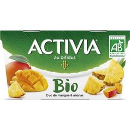 Activia - Yaourt BIO au bifidus duo de mangue & anan...