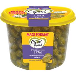 Olives cassées à l'ail entières douces