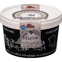 Glace marron