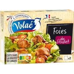 Foies de poulet cuits dans la graisse de canard