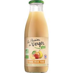 La Passion du Verger Jus de pomme pêche poire BIO la bouteille de 75 cl