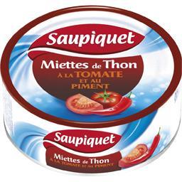 Miettes de thon à la tomate et au piment