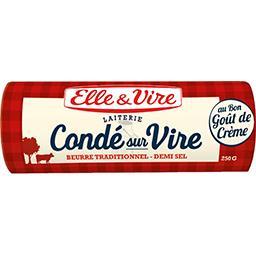 Beurre de la laiterie de Condé sur Vire demi-sel