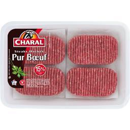 Steaks hachés pur bœuf 15%
