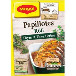 Papillotes - Assaisonnement rôti thym et fines herbe...