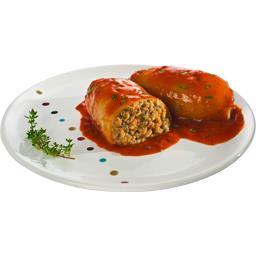 Encornets farcis sauce tomate cuisinée à l'huile d'olive 2%