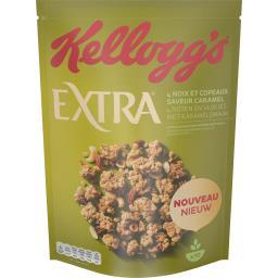 Kellogg's Extra - Céréales pépites 4 noix et copeaux saveur ca...