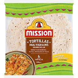 Tortillas multigrains graines de lin