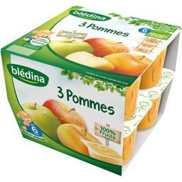 Purée de fruits 3 pommes, dès 6 mois