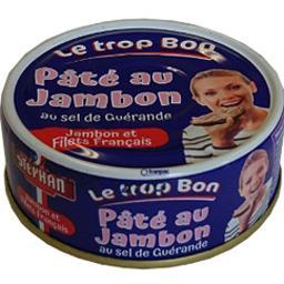 Stéphan Pâté au jambon Le Trop Bon au sel de Guérande la boite de 78 g