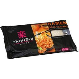 Tanoshi Nouilles japonaises Ramen précuites soja caramel