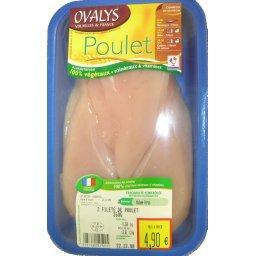 Escalopes poulet x3, la barquette de , 360g