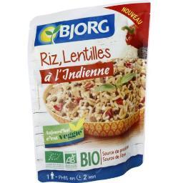 Veggie - Riz, lentilles à l'indienne BIO