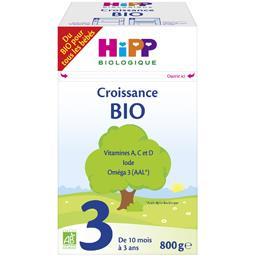 Croissance BIO - Lait bébé en poudre 3 BIO, de 10 mo...