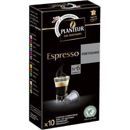 Capsules de café Espresso Fortissimo n°6