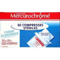 Compresses stériles 20 x 20 cm