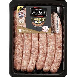 Saucisses pur porc aux 3 fromages