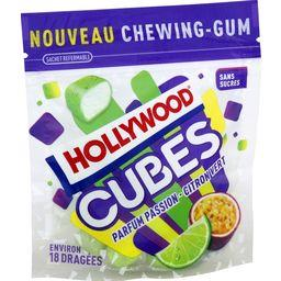 Hollywood Cubes - Chewing-gum passion-citron vert sans sucres