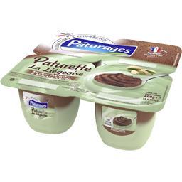 Pâturages Paturette - Dessert lacté La Liégeoise saveur pistac... les 4 pots de 100 g