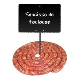 Saucisse de Toulouse Brasse LABEL ROUGE