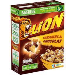 Nestlé Céréales Lion - Céréales caramel & chocolat