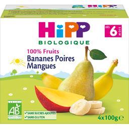 100% Fruits - Bananes poires mangues BIO dès 6 mois