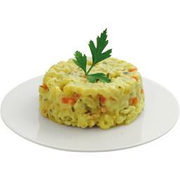Riz cuisiné à la crème, aux légumes et au zeste de citron