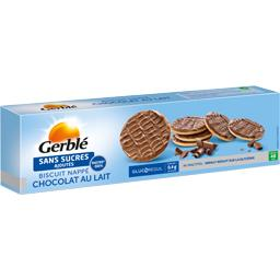Biscuit nappé chocolat au lait sans sucres ajoutés