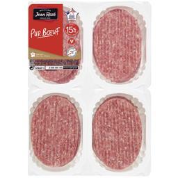 Steaks hachés de viande bovine 15%