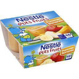 P'tits Fruits - Desserts pommes bananes, 4/6+ mois