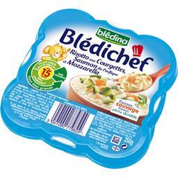 Blédichef - Risotto aux courgettes, saumon et mozzar...