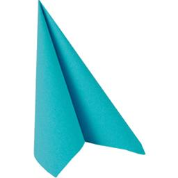 Serviettes 40x40 cm Royal Collection turquoise