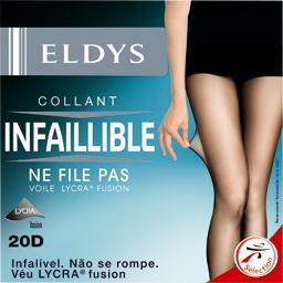 Collant perfect infaillible noir voile lycra 20D - T5