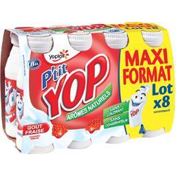 Yoplait P'tit Yop - Yaourt à boire goût fraise