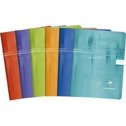 Cahier piqûre 170x220 seyes 6 couleurs assorties
