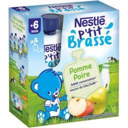 Nestlé P'tit Brassé - Laitage pomme poire, 6+ mois