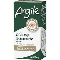 Argile - Crème gommante visage à l'argile blanche