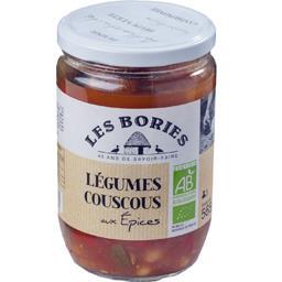 Les Bories Légumes couscous aux épices BIO le bocal de 380 g