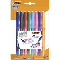 Bic Stylo gel effaçable Gelocity Illusion 8 couleurs ass... le lot de 8 stylos