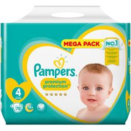 Pampers premium taille 4, 54 couches