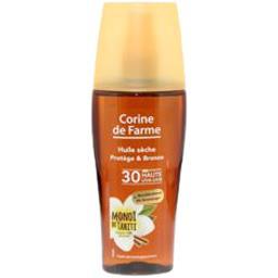Huile sèche protège & bronze SPF30 CORINE DE FARME, spray 150ml