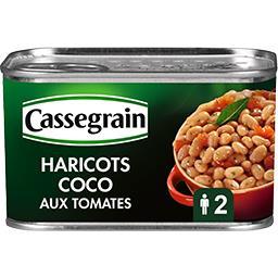 Haricots coco cuisinés aux tomates