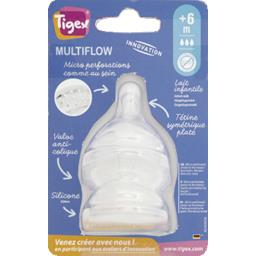Tétines Multiflow silicone taille 3, +6 mois