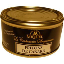 Miquel Fritons de canard la boite de 190 g