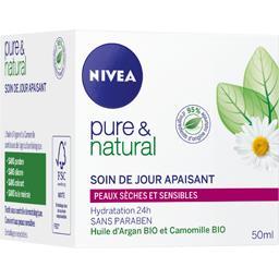 Nivea Pure & Natural - Soin de jour apaisant