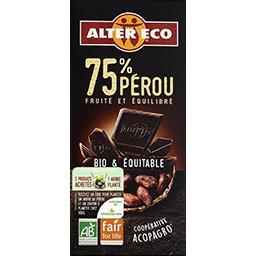 Chocolat noir 75% Pérou BIO & équitable