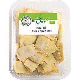L'Italie du Bio Ravioli aux cèpes BIO la barquette de 250 g