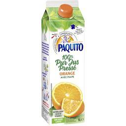 100% pur jus pressé orange avec pulpe
