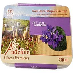 Audeline Crème glacée à la violette Le bac de 750ml