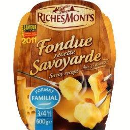 Fondue recette Savoyarde aux 3 fromages, Format familial